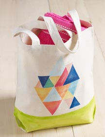 Painted Canvas Tote