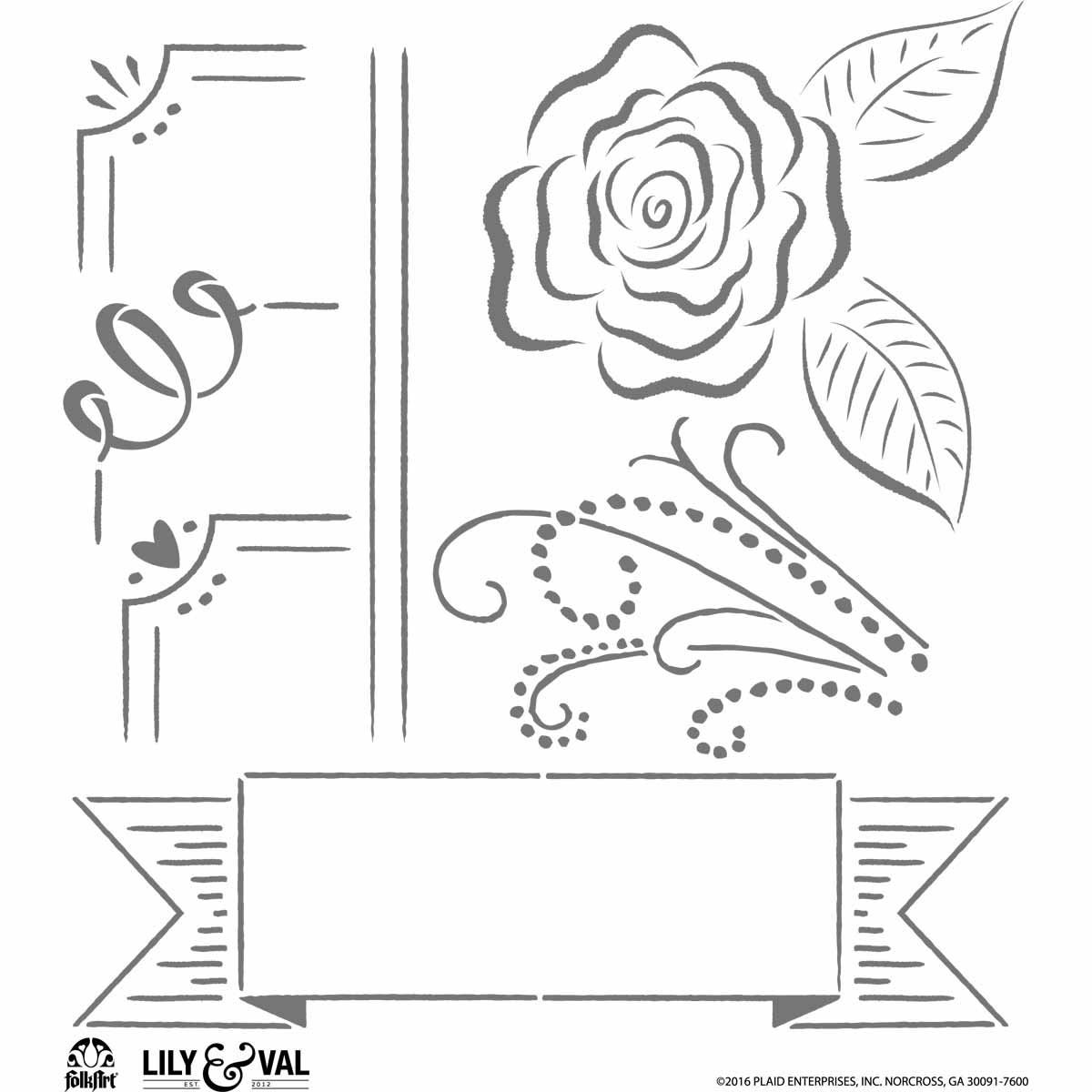 FolkArt ® Lily & Val™ Stencils - Variety Packs - Welcome - 13251