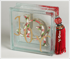 Joy Glass Block