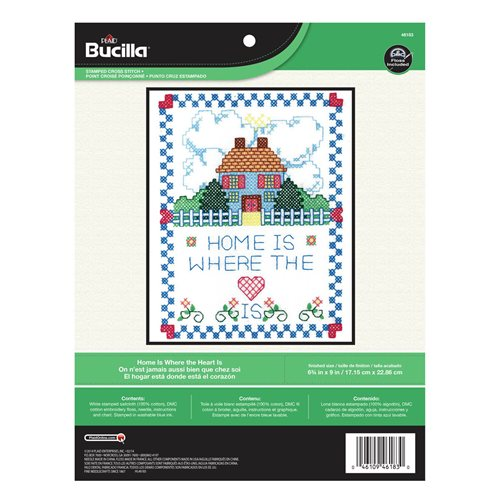 Bucilla ® Stamped Cross Stitch - Picture Kits - Home is Where the Heart Is