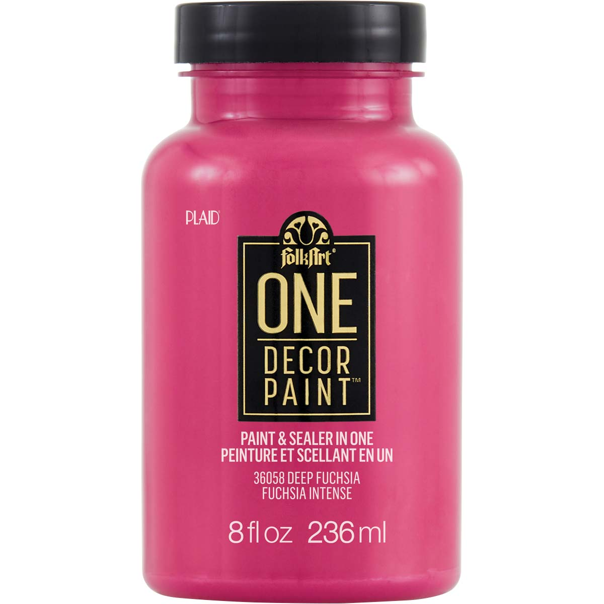 FolkArt ® One Décor Paint™ - Deep Fuchsia, 8 oz. - 36058