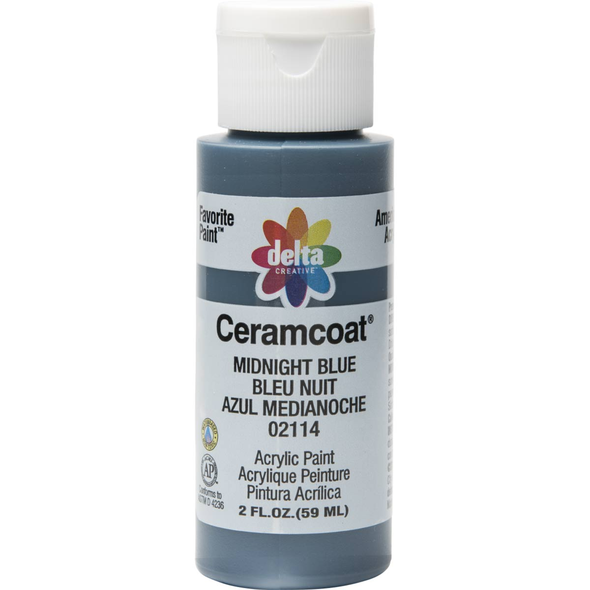 Delta Ceramcoat Acrylic Paint - Midnight Blue, 2 oz. - 021140202W