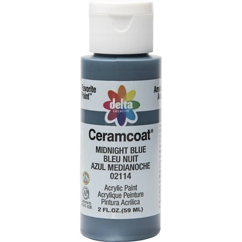 Delta Ceramcoat ® Acrylic Paint - Midnight Blue, 2 oz.