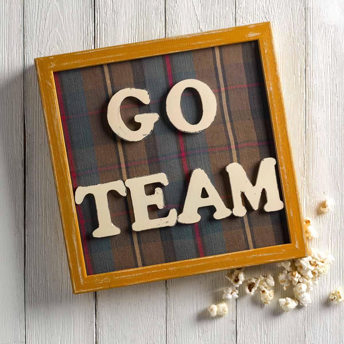 Go Team Sign -- DIY Football Party Idea
