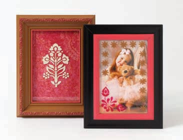 Quick and Easy Stenciled Frames