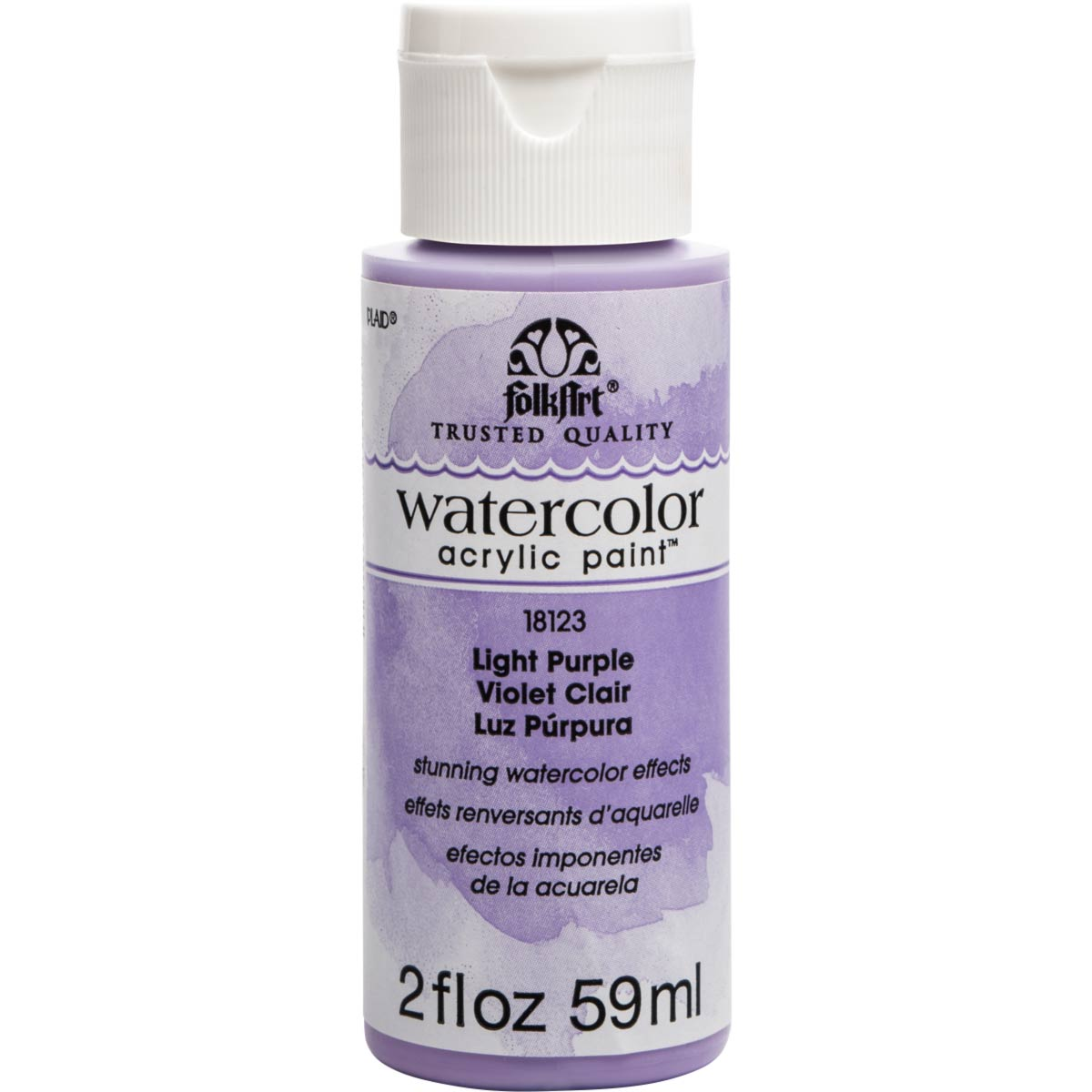 FolkArt ® Watercolor Acrylic Paint™ - Light Purple, 2 oz.