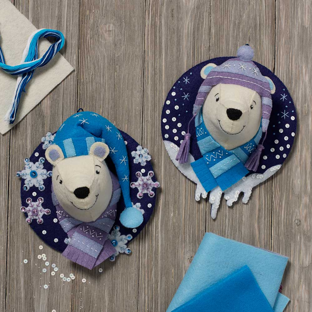 Bucilla ® Seasonal - Felt - Home Decor - Winter Bears Wall Hanging