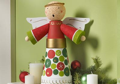 Clay Angel Centerpiece