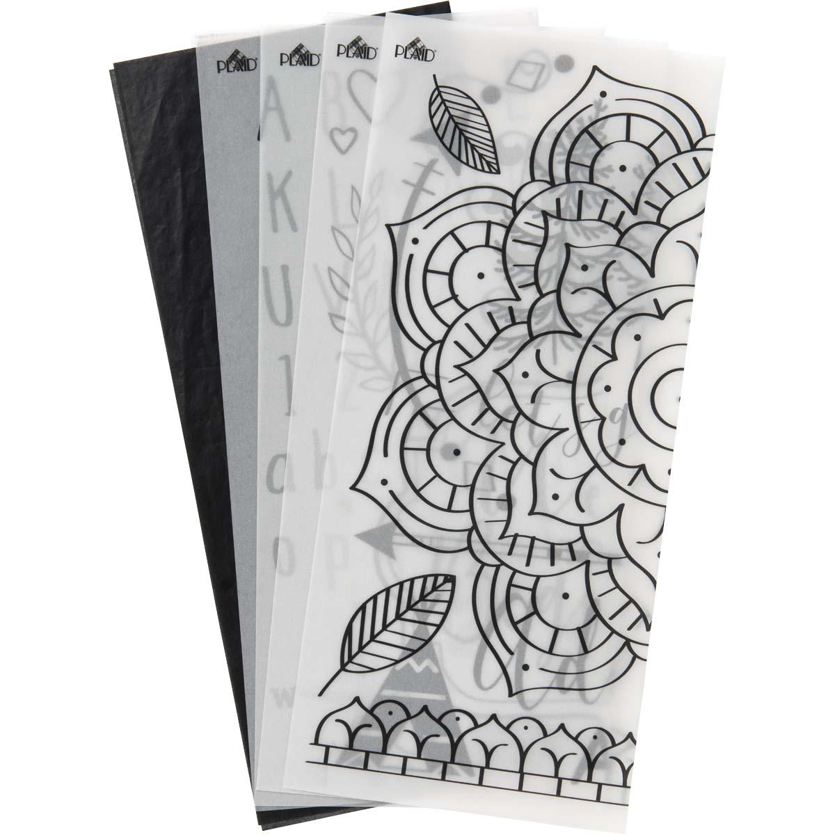 Plaid ® Wood Burning Pattern Sheets, 5 pc. - 17540E