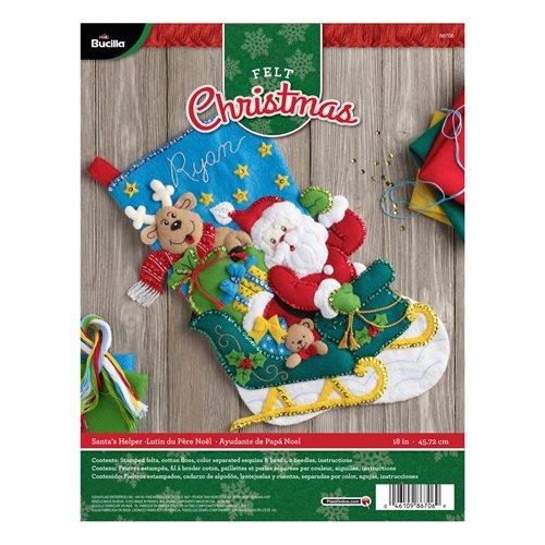 bucilla seasonal felt stocking kits santas helper - Christmas Stocking Kits