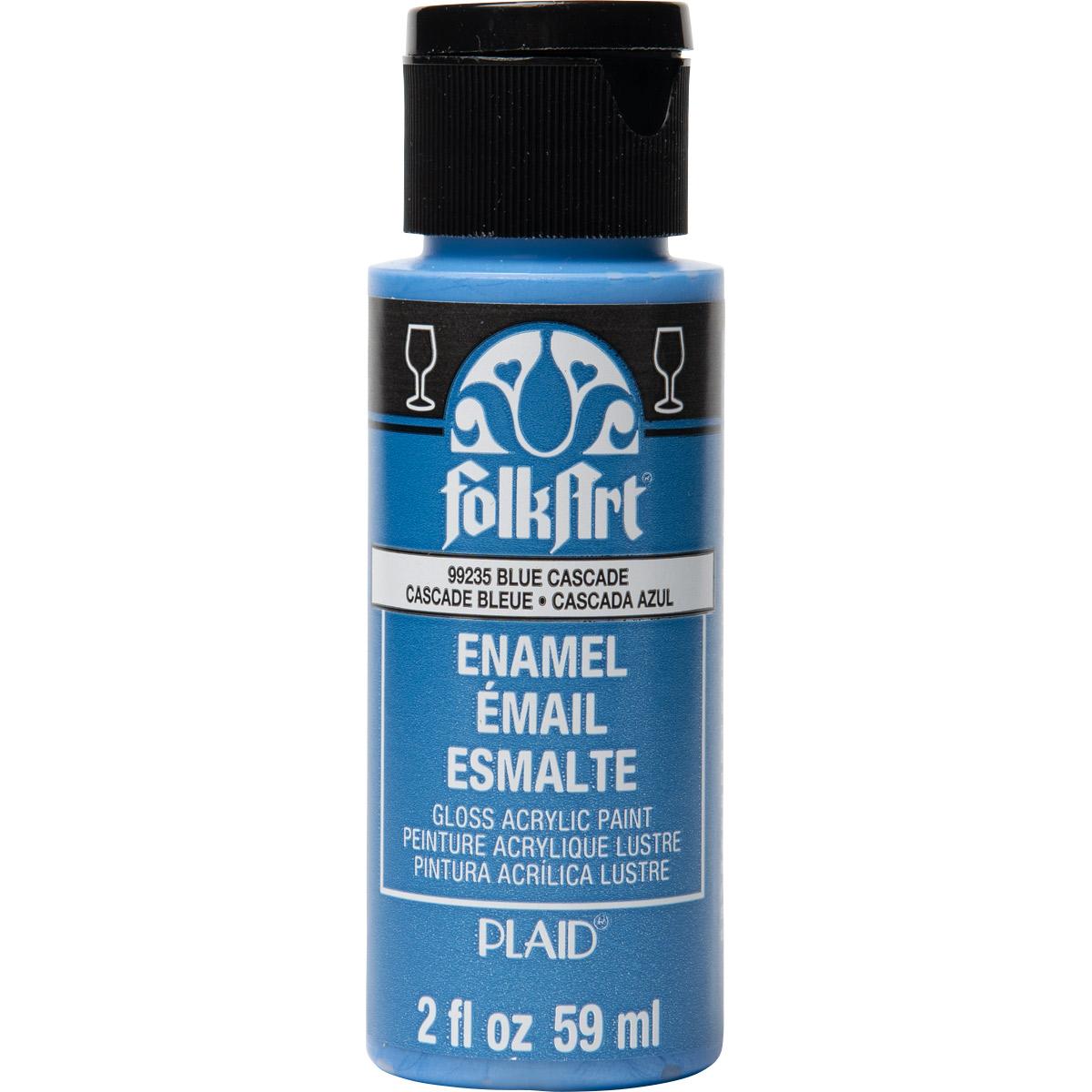 FolkArt ® Enamels™ - Metallic Blue Cascade, 2 oz.