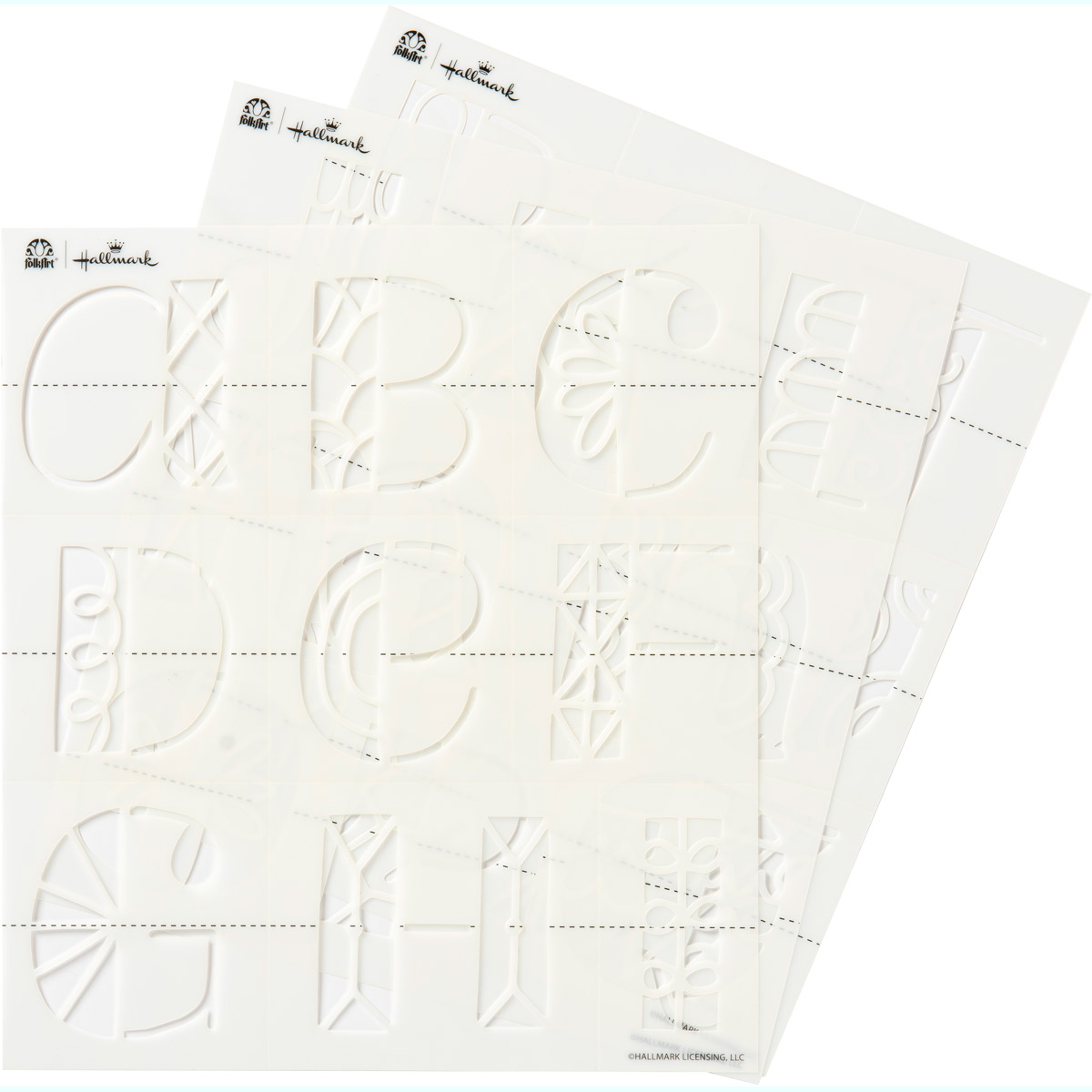 Hallmark Handcrafted Adhesive Stencils - Doodle Font, 8-1/2