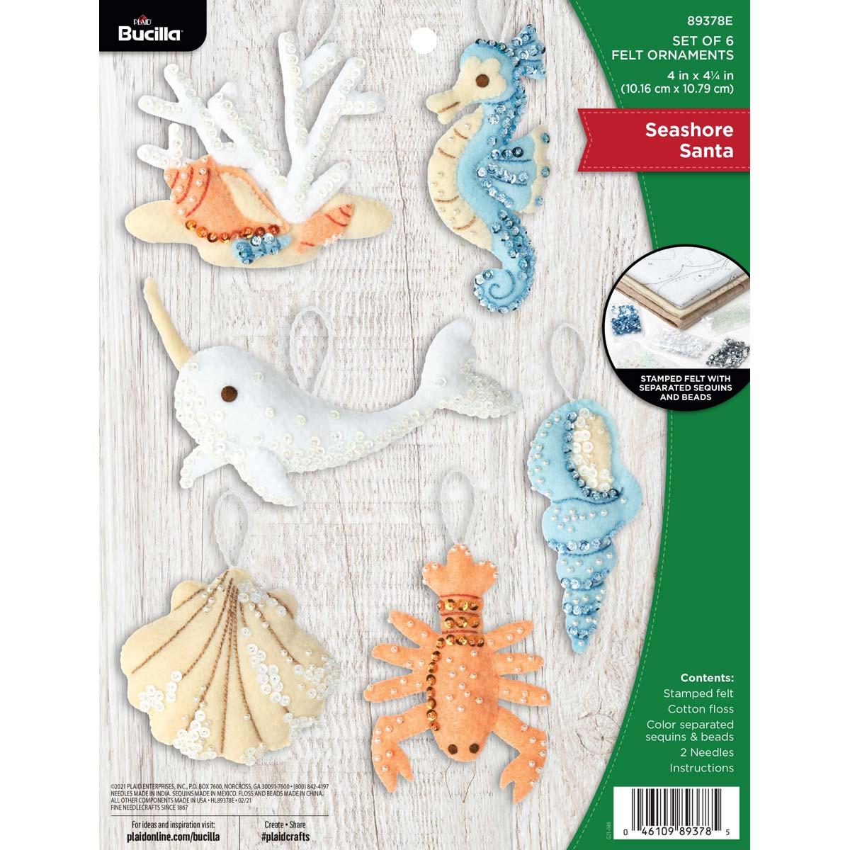 Bucilla ® Seasonal - Felt - Ornament Kits - Seashore Santa - 89378E