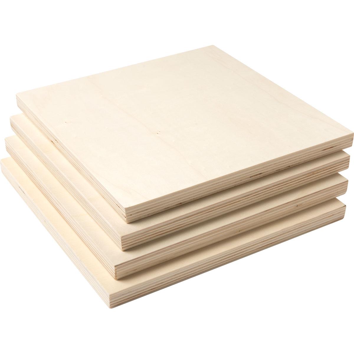 Plaid ® Wood Surfaces - Plywood Panel Bundle, 4 pieces, 12