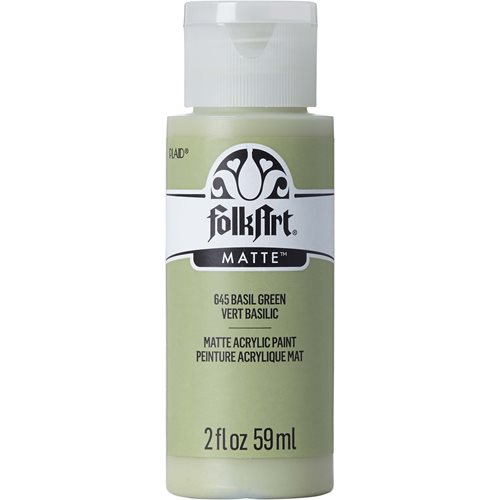 FolkArt ® Acrylic Colors - Basil Green, 2 oz.