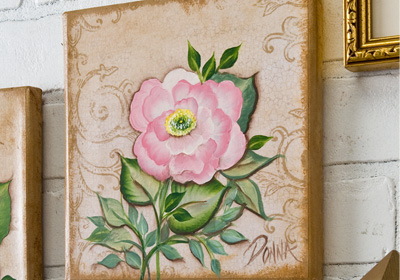 Rose on Canvas II