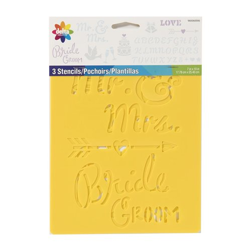 Delta Creative™ Stencil - Wedding 3 Pack