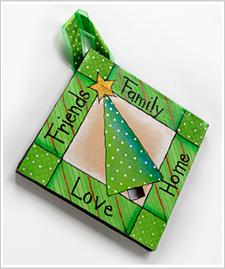 Friends and Family Holiday Wall Hanging