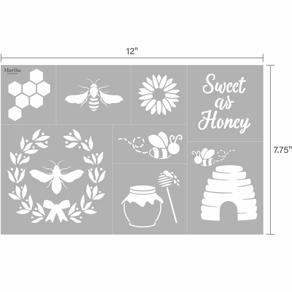 Martha Stewart ® Adhesive Stencil - Bees and Honey