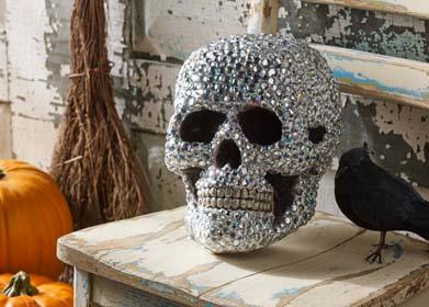 Homemade Halloween Skull Decoration
