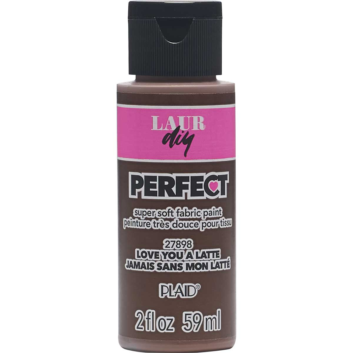 LaurDIY ® Perfect Fabric Paint - Love You A Latte, 2 oz.