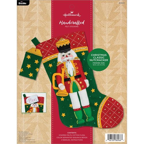Bucilla ® Seasonal - Felt - Stocking Kits - Hallmark - Christmas Classic Nutcracker