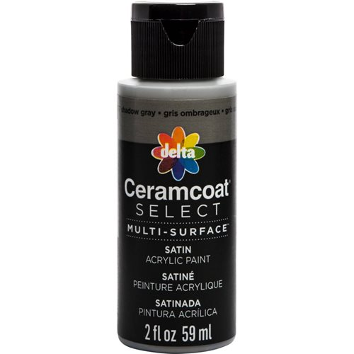 Delta Ceramcoat ® Select Multi-Surface Acrylic Paint - Satin - Shadow Gray, 2 oz.