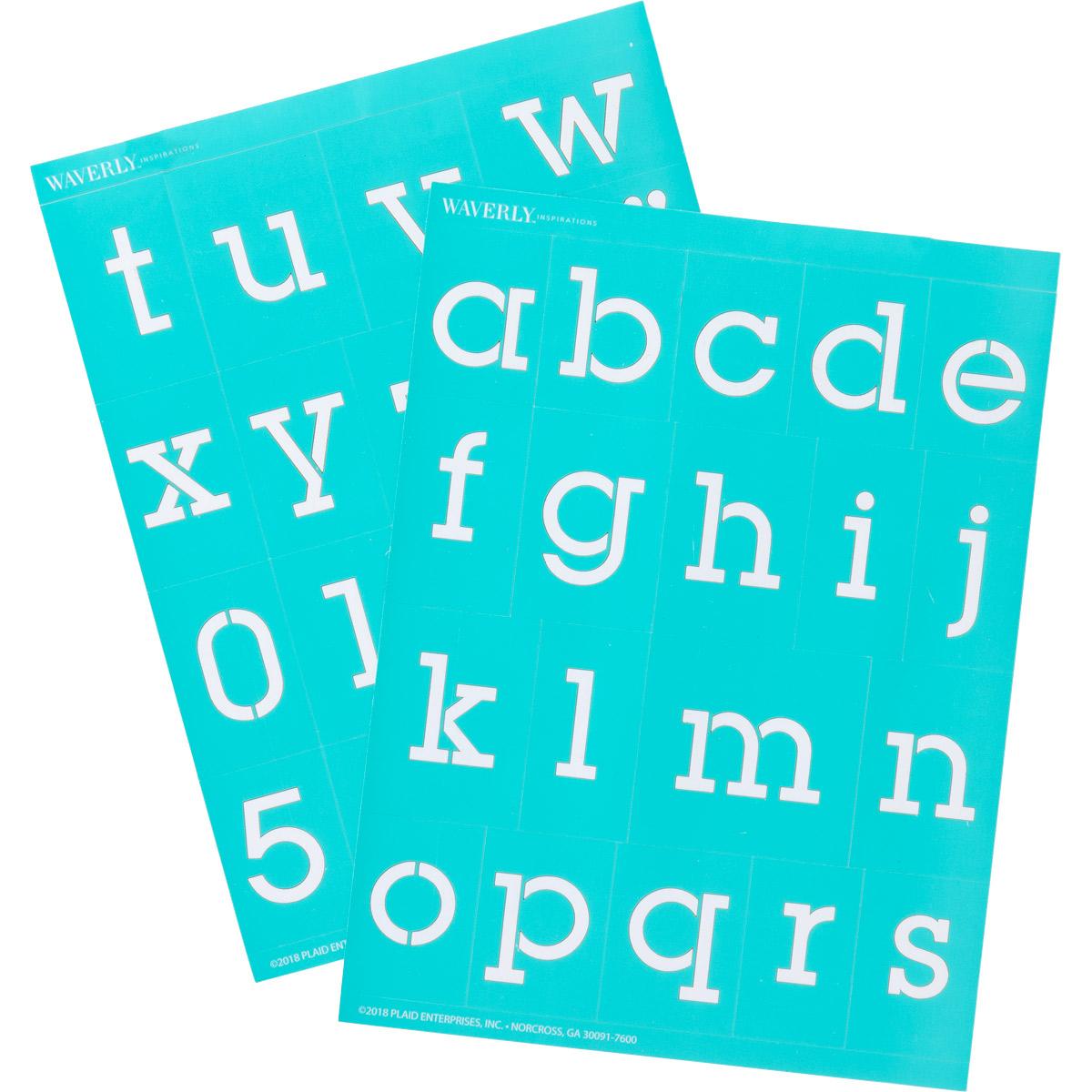 Waverly ® Inspirations Laser-cut Adhesive Stencils - Lowercase Serif Alphabet, 6