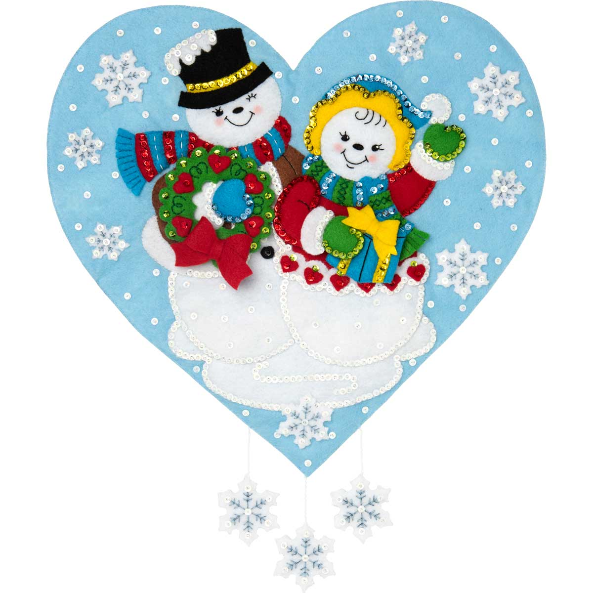 Bucilla ® Seasonal - Felt - Home Decor - Snowman Love Wall Hanging - 86917E