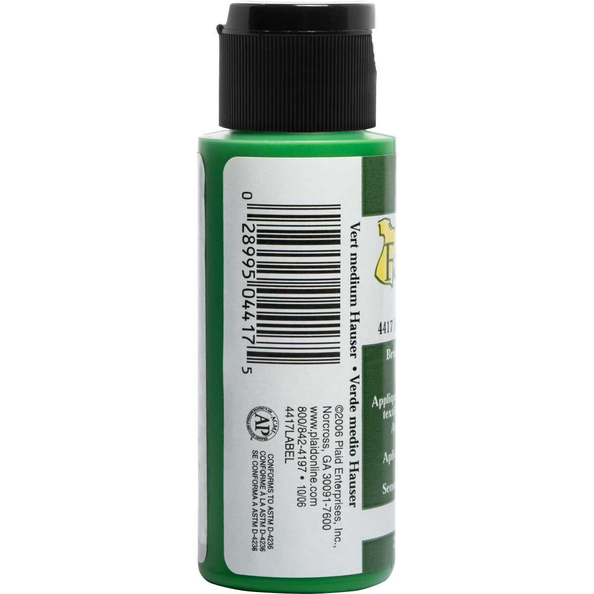 FolkArt ® Fabric™ Paint - Brush On - Hauser Green Medium - 4417