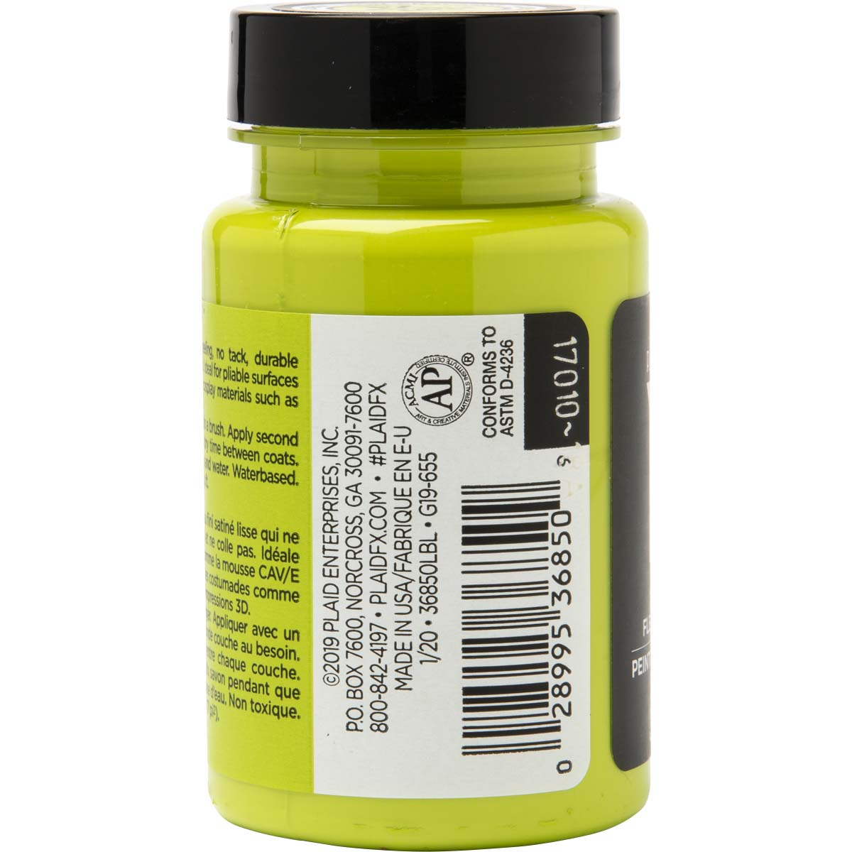 PlaidFX Smooth Satin Flexible Acrylic Paint - Goblin Green, 3 oz. - 36850