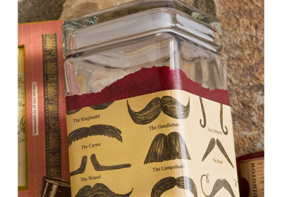 Gifts for Guys - Candy and Nut Moustache Canister