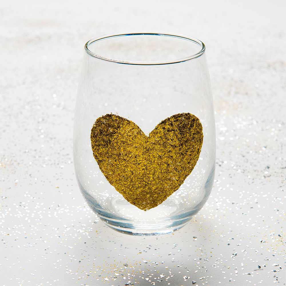 Glittered Wine Glasses