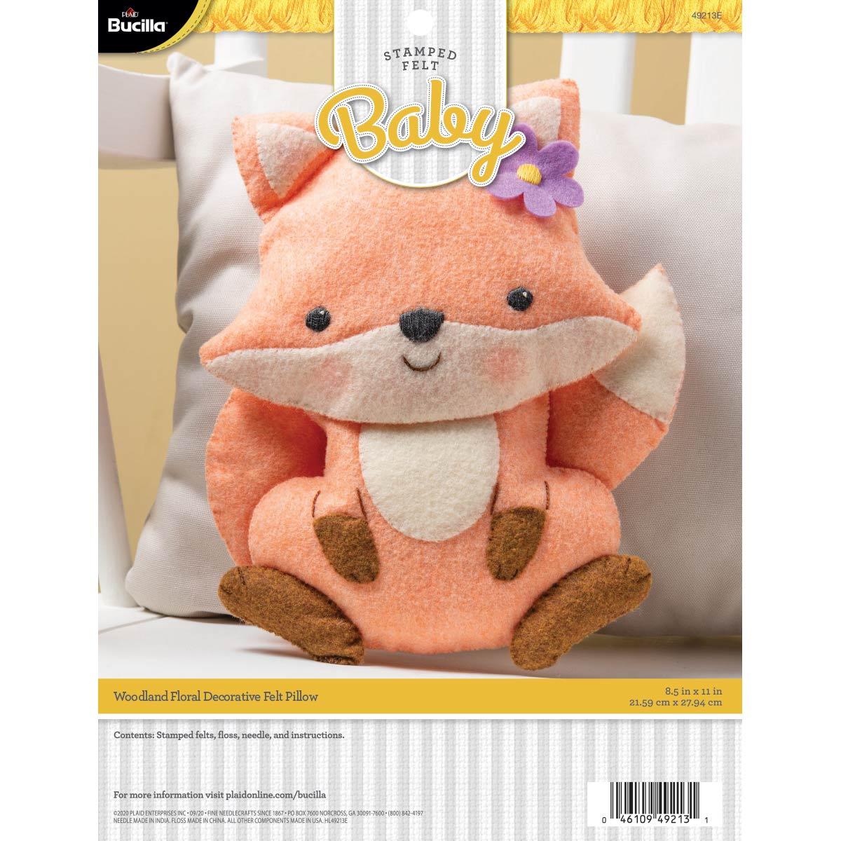 Bucilla ® Baby - Felt - Crib Ensembles - Woodland Floral - Pillow - 49213E