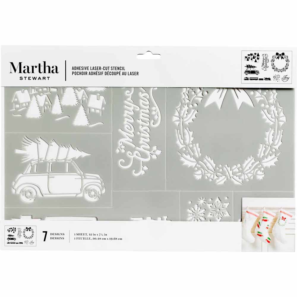 Martha Stewart ® Adhesive Stencil - Holiday Christmas - 5967