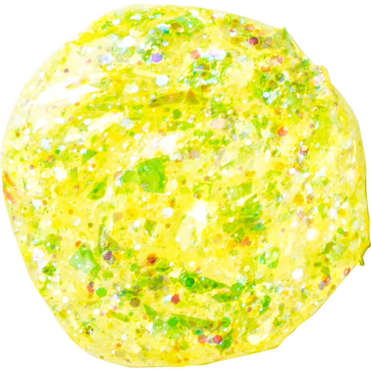 FolkArt ® Glitterific™ Acrylic Paint - Neon Yellow, 2 oz. - 44390
