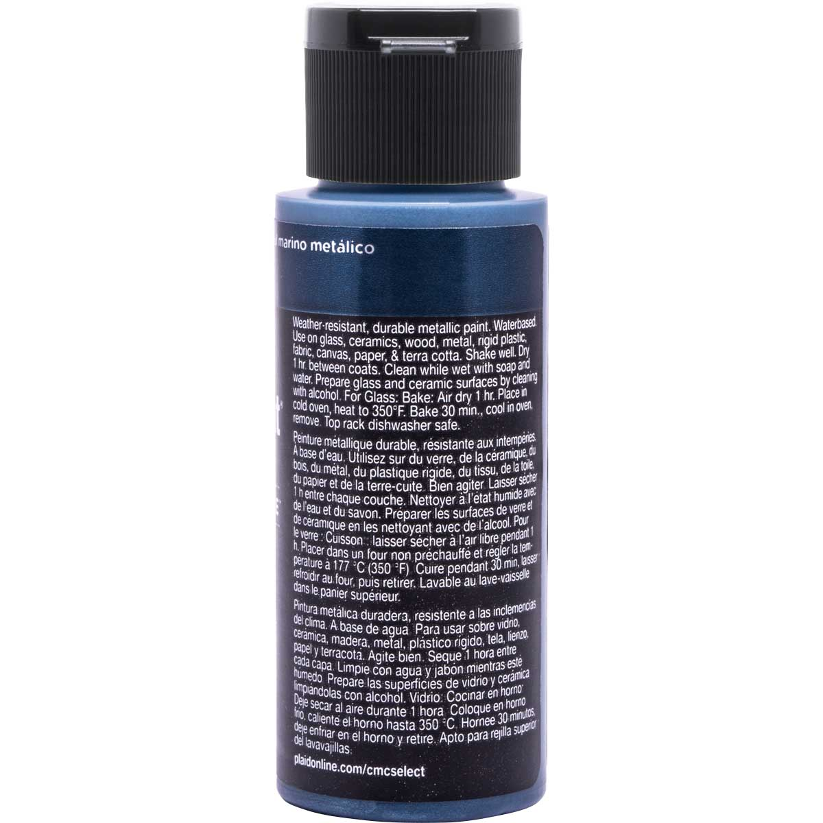 Delta Ceramcoat ® Select Multi-Surface Acrylic Paint - Metallic - Navy, 2 oz.