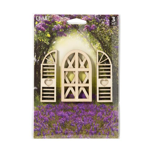 Plaid ® Wood Surfaces - Fairy Garden - Novelty Window and Shutter 3 pc.