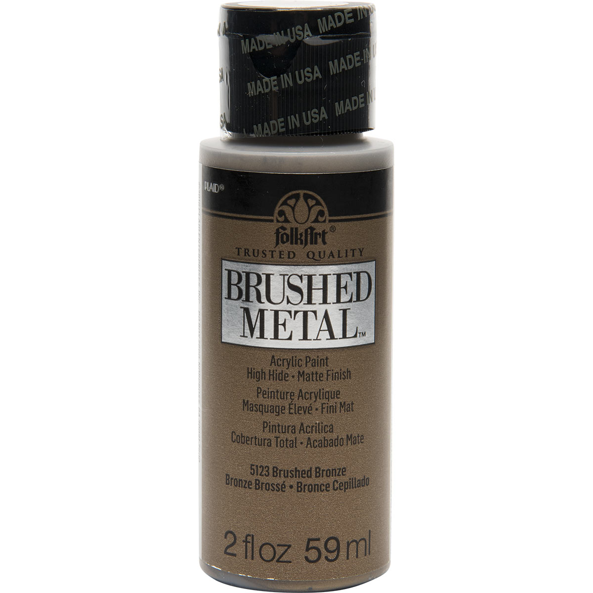FolkArt ® Brushed Metal™ Acrylic Paint - Bronze, 2 oz. - 5123