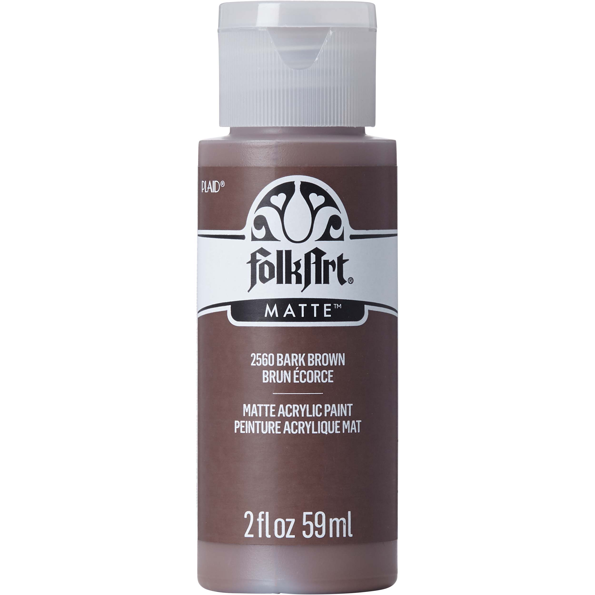 FolkArt ® Acrylic Colors - Bark Brown, 2 oz. - 2560