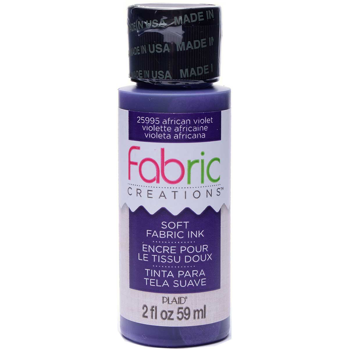 Fabric Creations™ Soft Fabric Inks - African Violet, 2 oz. - 25995