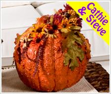 Festive Floral Pumpkin