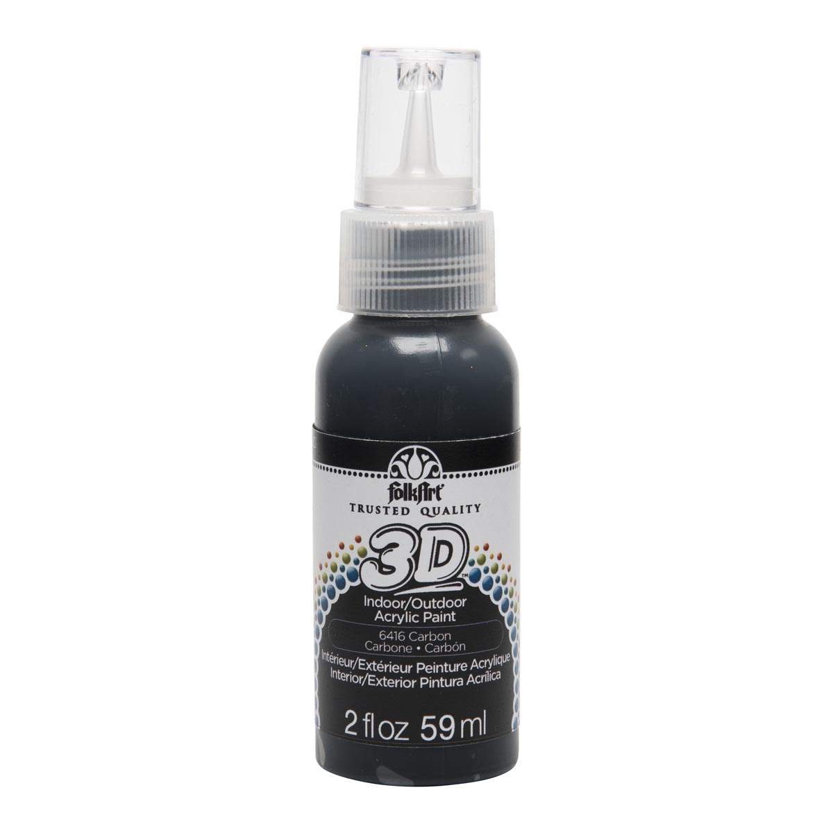 FolkArt ® 3D™ Acrylic Paint - Carbon, 2 oz.