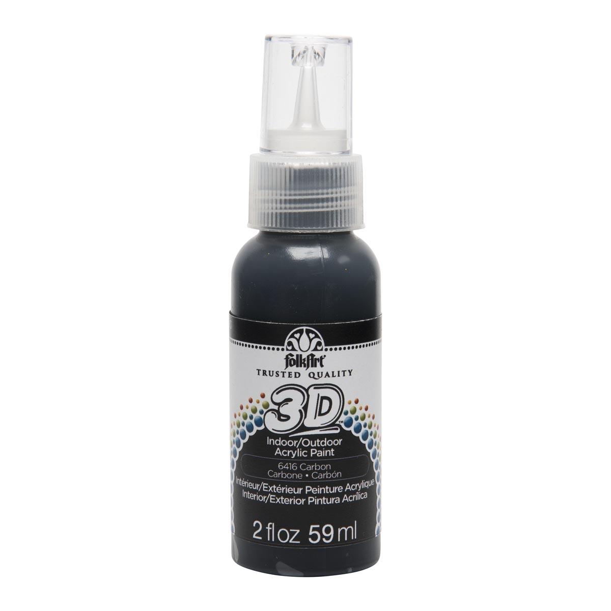 FolkArt ® 3D™ Acrylic Paint - Carbon, 2 oz. - 6416