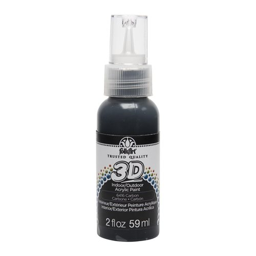 FolkArt ® 3D™ Acrylic Paint - Carbon, 2 oz. - 6416