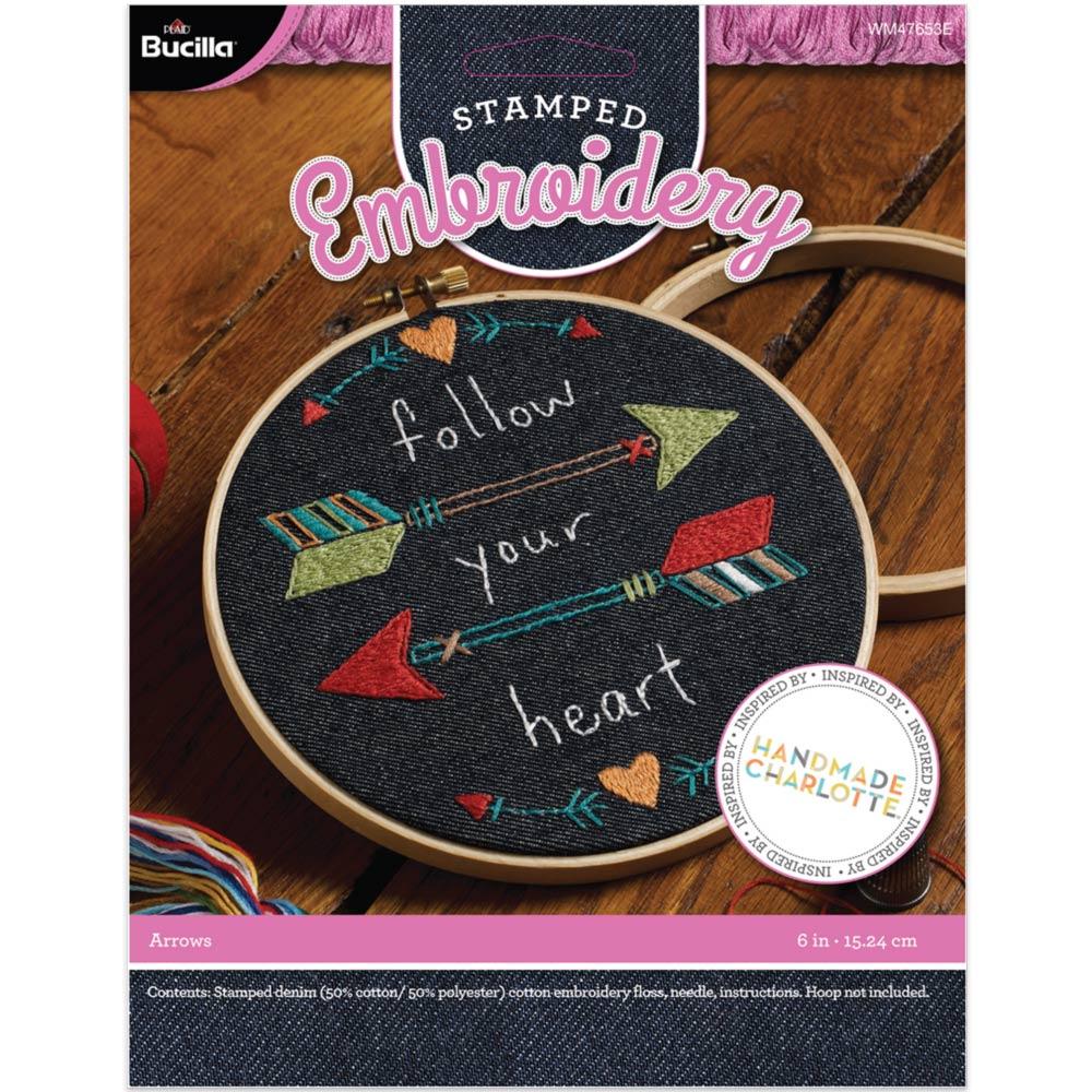 Bucilla ® Stamped Embroidery Handmade Charlotte™ - Denim Dream Catcher - 47654E