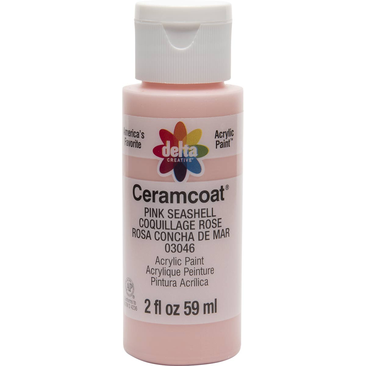 Delta Ceramcoat ® Acrylic Paint - Pink Seashell, 2 oz. - 03046