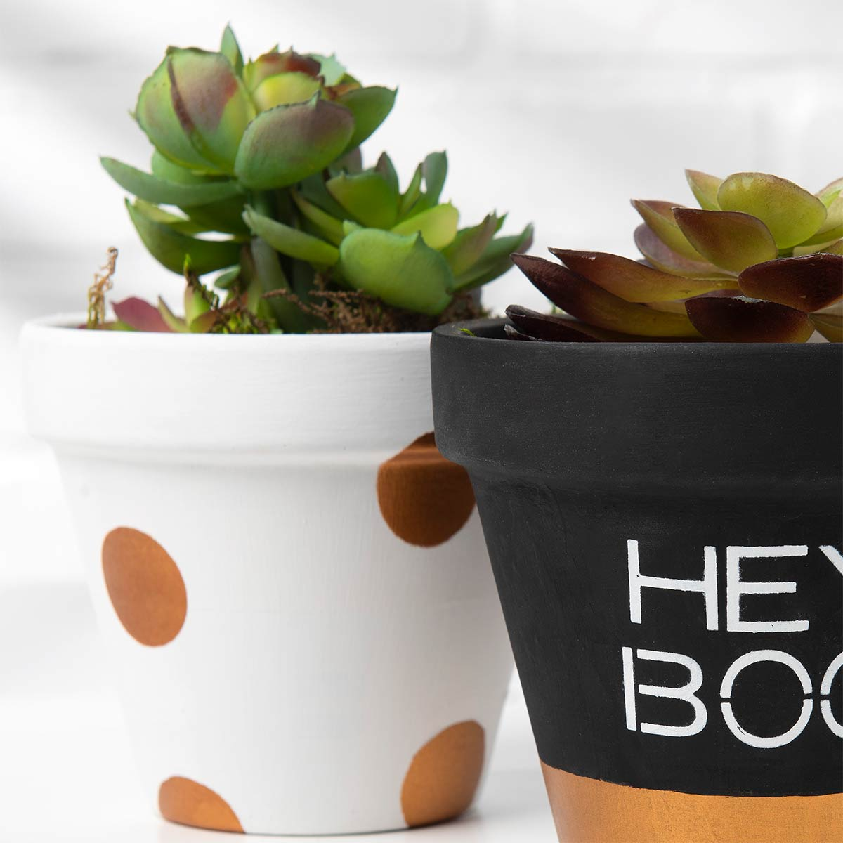 Hey Boo Planters