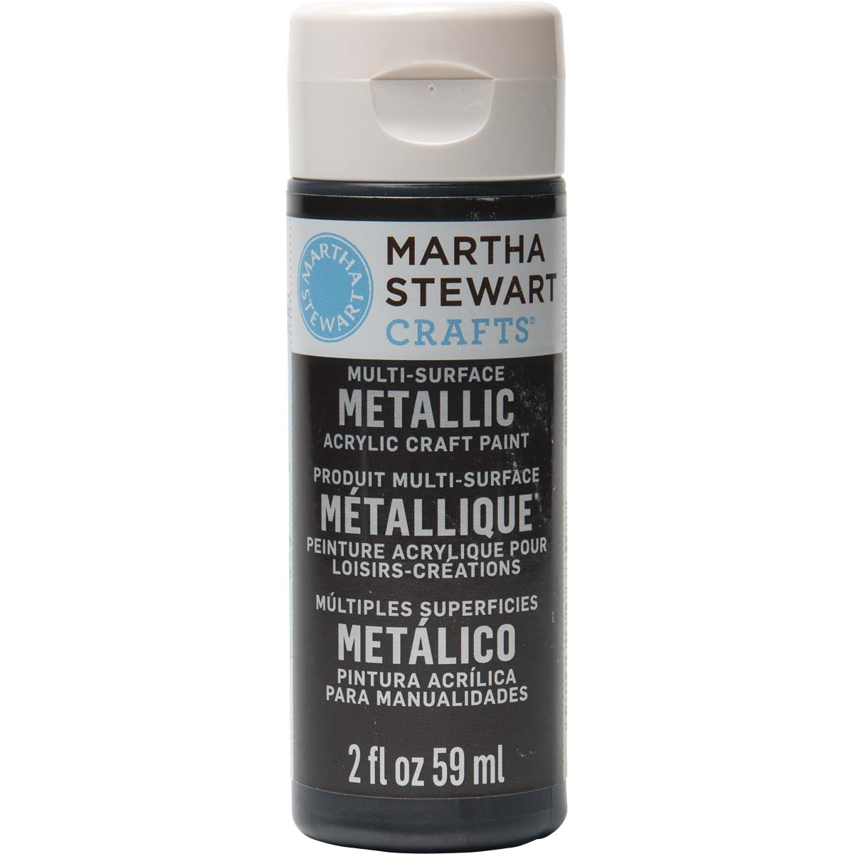 Martha Stewart ® Multi-Surface Metallic Acrylic Craft Paint - Black Nickel, 2 oz. - 32989CA