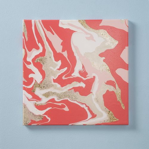Marbled Canvas DIY Wall Decor